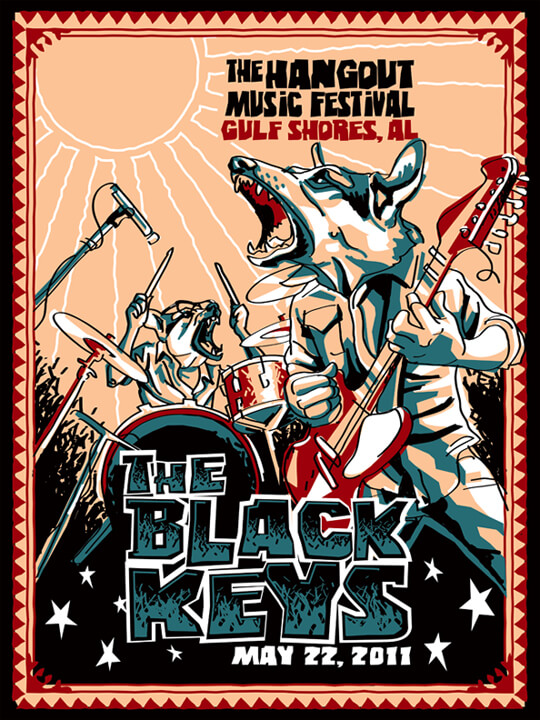 The Black Keys - Concert Poster