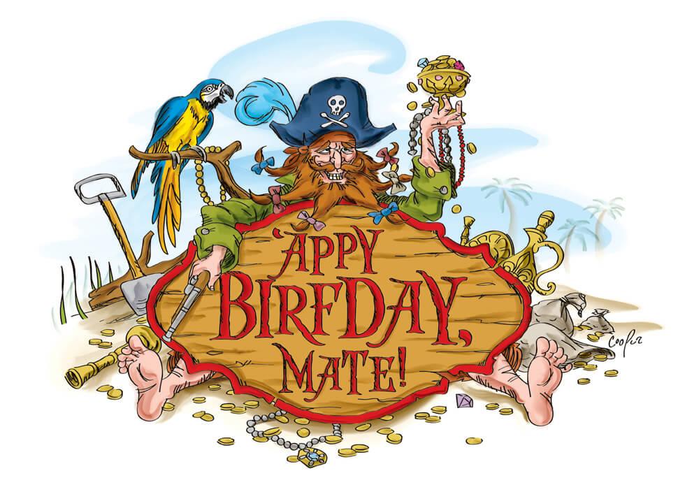 Appy Birfday Mate Birthday Cards Cooper Design Studio – Pirate Birthday Card