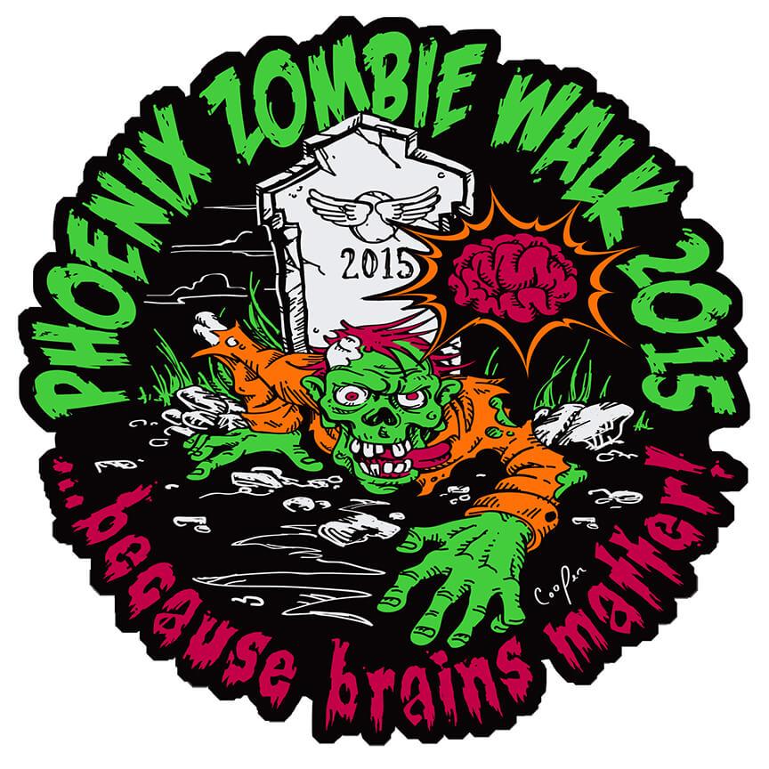 Zombie Walk 2015 - T-shirt Design